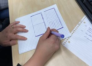 Un utilisateur dessine un portefeuille lors d'une formation