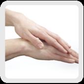 Frotter l'exterieur des mains