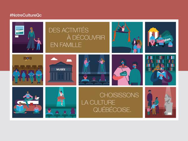 Des activités à découvrir en famille. Choisissons la culture québécoise.