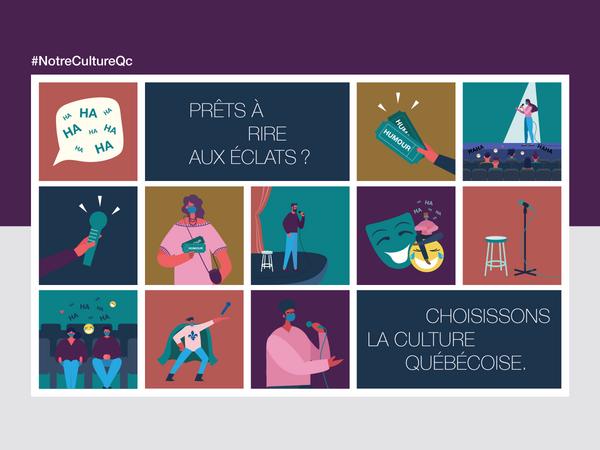 Prêts à rire aux éclats? Choisissons la culture québécoise.