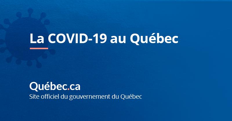 Donnees Sur La Covid 19 Au Quebec Gouvernement Du Quebec
