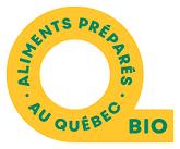 Logo Aliments préparés au Québec bio