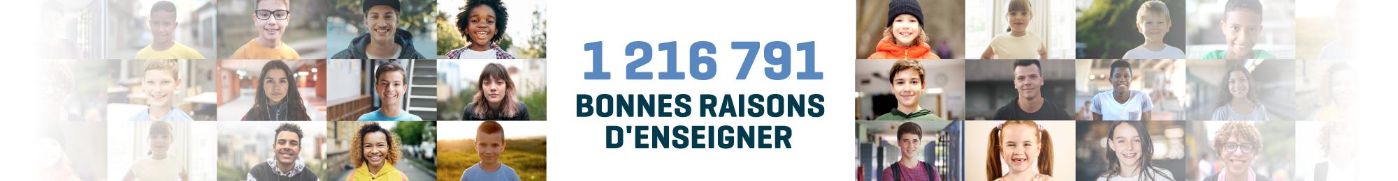 Il y a 1 216 791 bonnes raisons d'enseigner