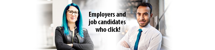 Employers and job candidates who click!