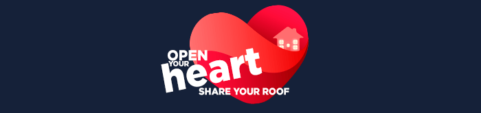 Open your heart, share your roof