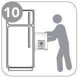 Étape 10 - Conservez le sac au réfrigérateur.