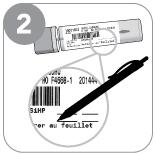 Étape 2 - Prenez le tube et inscrivez les renseignements demandés sur l'étiquette.