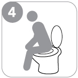 Step 4 : When passing stool make sure that it falls on the paper or in the container.