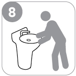 Step 8 : Wash your hands.