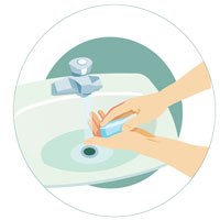 Step 4 - Wash your hands thoroughly with soap and water.