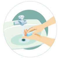 Étape 4 - Lavez-vous bien les mains avec de l'eau et du savon.