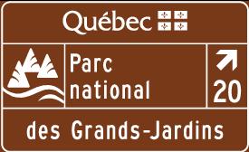 Signalisation d'un équipement touristique public : parc national