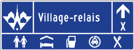 Panneau village-relais