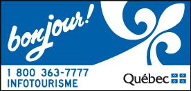 Panneau d'accueil Bonjour : entrée du Québec