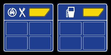 Signalisation des services de carburant et de restauration